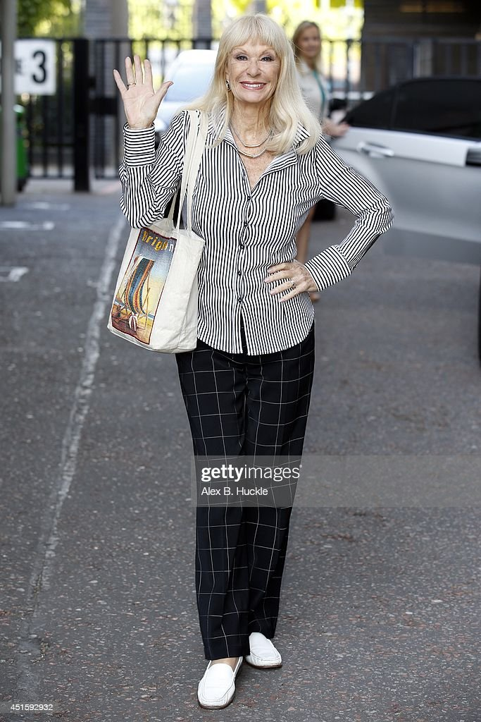 <a gi-track='captionPersonalityLinkClicked' href=/galleries/search?phrase=Carol+Cleveland&family=editorial&specificpeople=2003514 ng-click='$event.stopPropagation()'>Carol Cleveland</a> seen leaving the ITV Studios after an appearance on 'Lorraine' on July 2 2014 in London, England.