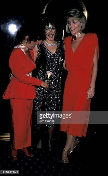 Carol Connors Barbi Benton and Susan Sullivan during Sightings at Torch Club February 16 1986 at Torch Club in Beverly Hills California United States