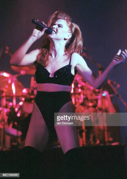 Carol Decker of T'Pau performing on stage at Hammersmith Odeon London 01 November 1991