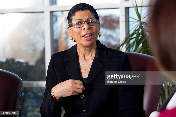 Carol Fulp President and CEO of The Partnership A roundtable discussion for Diversity Boston magazine in the Board Room at The Boston Globe took...