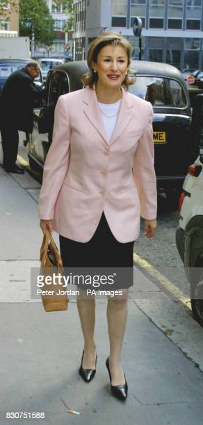 Carol Galley arriving at High Court Bream Buildings in London where she is fighting for her reputation as a top fund manager
