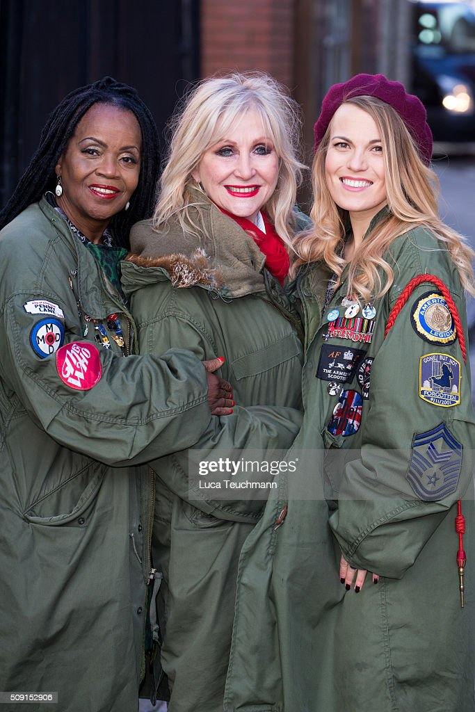 Carol Harrison, PP Arnold and Mollie Marriott attends Photocall for 'All Or Nothing' on February 9, 2016 in London, England.