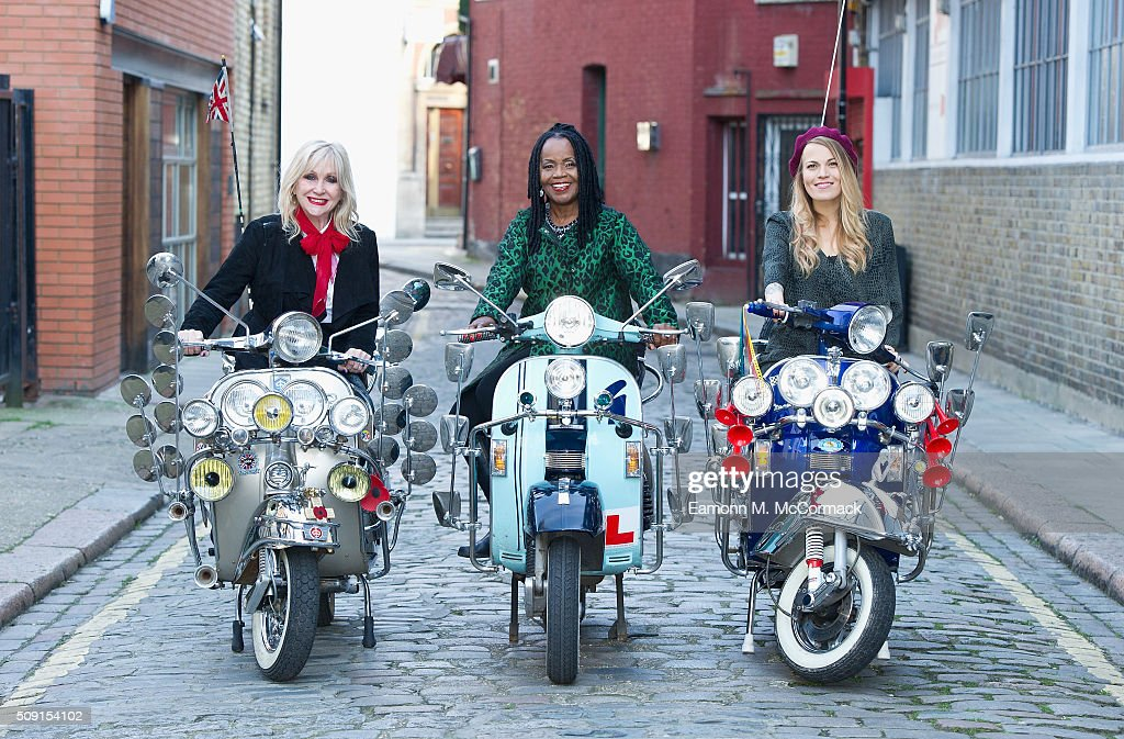 Carol Harrison, PP Arnold and Mollie Marriott pose at Photocall for 'All Or Nothing' on February 9, 2016 in London, England.