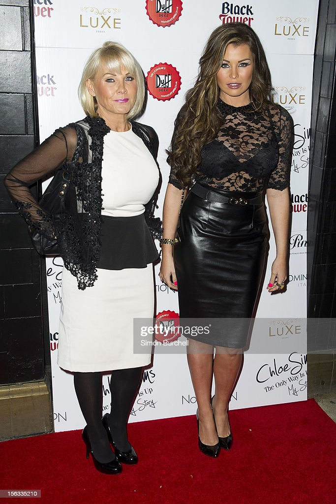Carol & Jessica Wright attend the launch of Chloe Sims book 'Chloe Sims: The Only Way Is Up' at Luxe Nightclub on November 13, 2012 in Loughton, Essex.