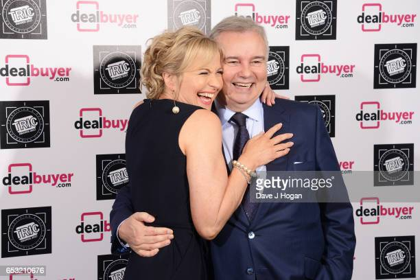 Carol Kirkwood and Eamonn Holmes attend the TRIC Awards 2017 at The Grosvenor House Hotel on March 14 2017 in London England