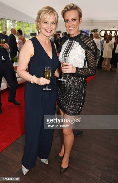 Carol Kirkwood and Steph McGovern attend the Audi Polo Challenge at Coworth Park on May 6 2017 in Ascot United Kingdom