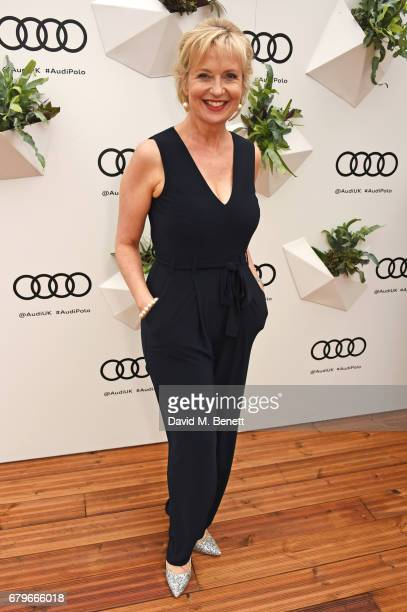 Carol Kirkwood attends the Audi Polo Challenge at Coworth Park on May 6 2017 in Ascot United Kingdom