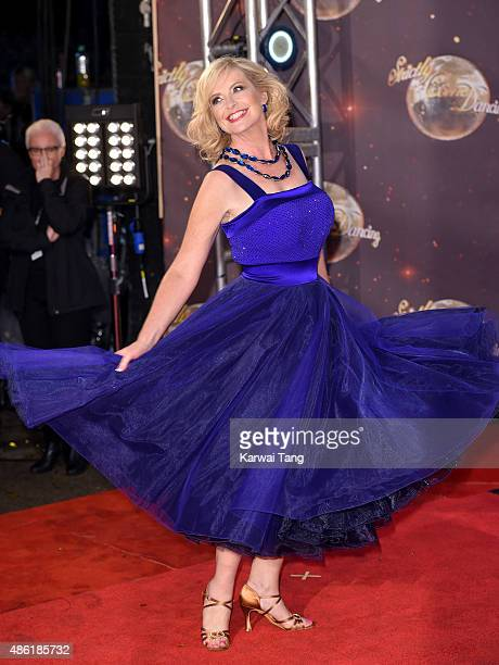Carol Kirkwood attends the red carpet launch of 'Strictly Come Dancing 2015' at Elstree Studios on September 1 2015 in Borehamwood England