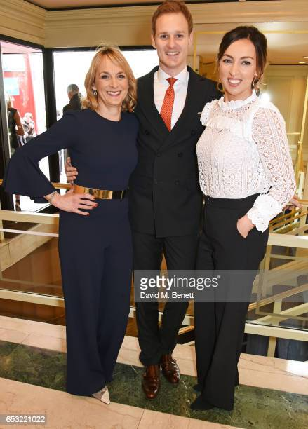 Carol Kirkwood Dan Walker and Sally Nugent attend the TRIC Awards 2017 at The Grosvenor House Hotel on March 14 2017 in London England