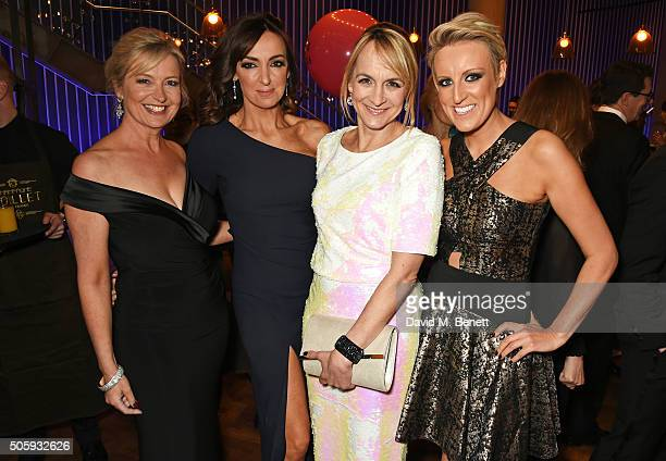 Carol Kirkwood Sally Nugent Louise Minchin and Stephanie McGovern attend the 21st National Television Awards at The O2 Arena on January 20 2016 in...