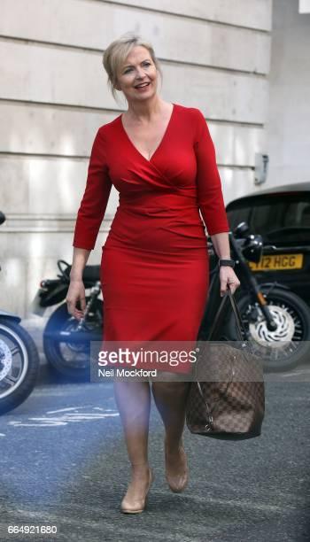 Carol Kirkwood seen at BBC Radio 2 on April 5 2017 in London England