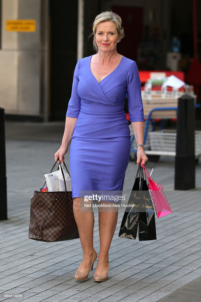 Carol Kirkwood seen at the BBC, Portland Place on May 26, 2016 in London, England.