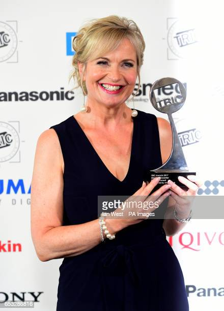 Carol Kirkwood with the award for Weather Presenter during the 2017 Television and Radio Industries Club Awards Grosvenor House Park Lane London