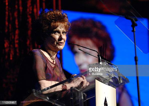 Carol Lawrence speaks during the Recording Academy New York Chapter's Tribute to Bon Jovi Alicia Keys Donnie McClurkin and the creators of West Side...
