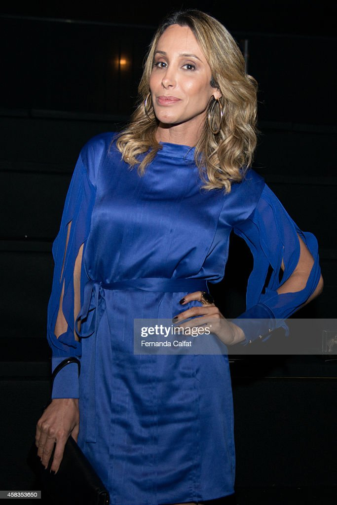Carol Marra attends the Victor Dzenk fashion show during Sao Paulo Fashion Week Winter 2015 at Parque Candido Portinari on November 3 2014 in Sao...