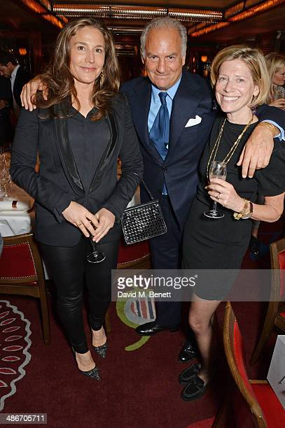 Carol McFadden Charles Finch and Maya di Robilant attend an exclusive dinner hosted by Charles Finch Mulberry and PORTER Magazine for Julian Schnabel...