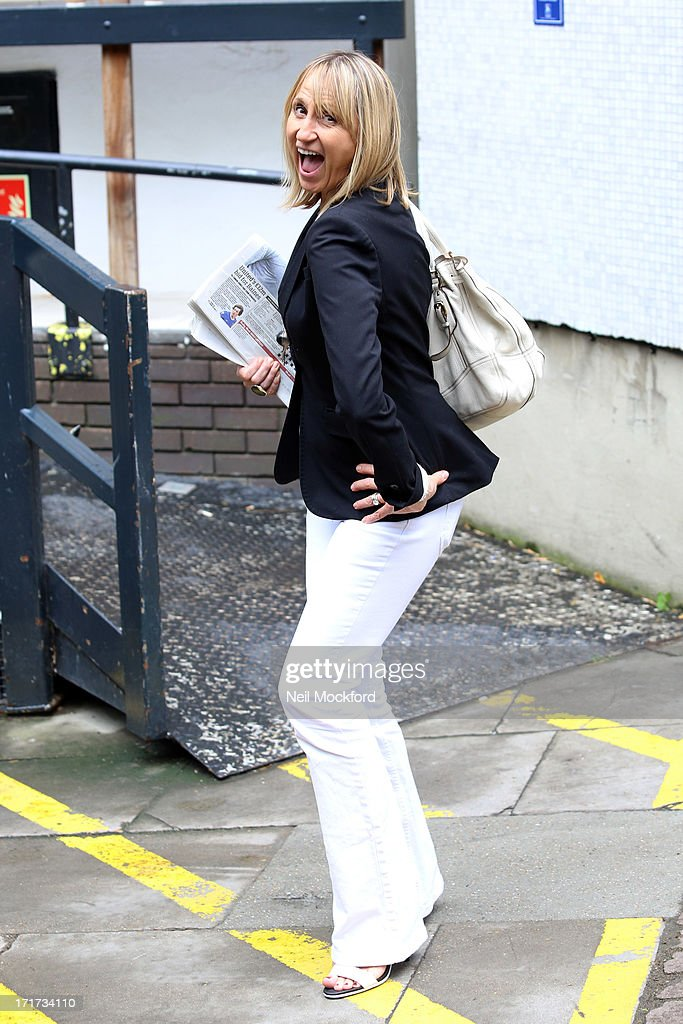 Carol McGiffin seen leaving the ITV Studios after the last 'Loose Women' of the year show on June 28, 2013 in London, England.