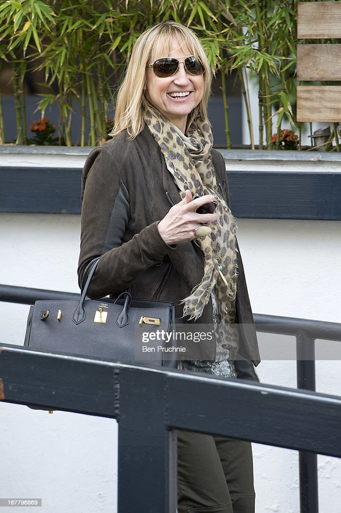 Carol McGiffin sighted departing ITV Studios on April 30, 2013 in London, England.