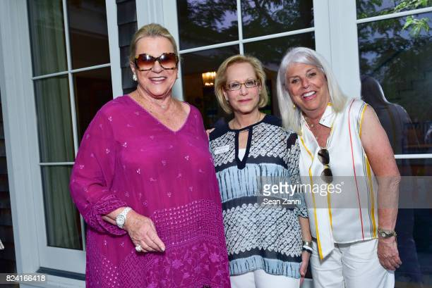Carol Roaman Maurie Perl and Ellen Krass attend NYSCF Summer Cocktail Reception at a Private Residence on July 28 2017 in Sagaponack New York