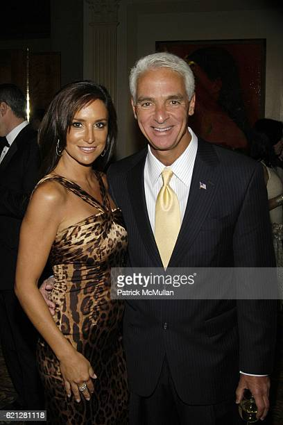 Carol Rome and Governor Charlie Crist attend Edwin Gould Services For Children and Families Welcomes you to The ARTRAGEOUS Gala at Cipriani Wall...