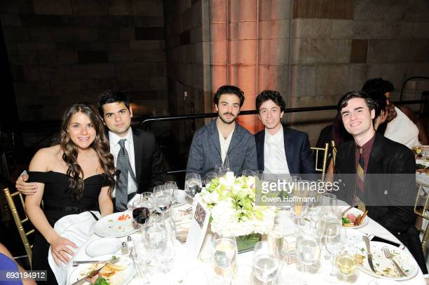 Carol Sabbabe Abraham Serouya Austin Parada Victor Llorente and James Yaiullo attend the Gordon Parks Foundation Awards Dinner Auction at Cipriani...