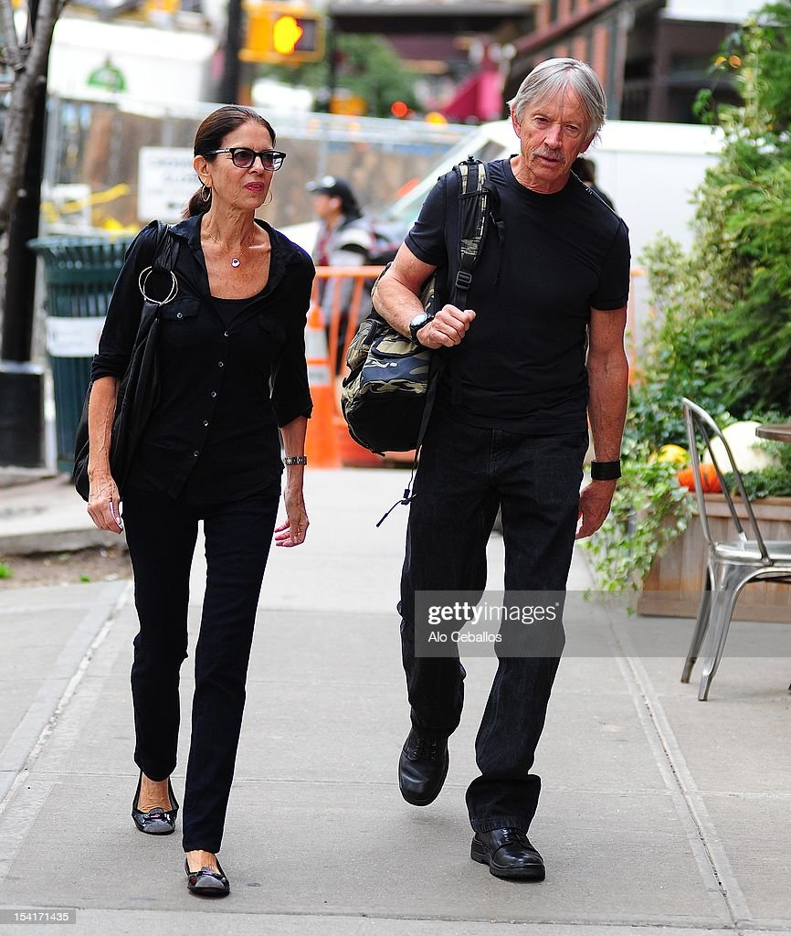 Carol Schwartz and <a gi-track='captionPersonalityLinkClicked' href=/galleries/search?phrase=Scott+Glenn&family=editorial&specificpeople=662450 ng-click='$event.stopPropagation()'>Scott Glenn</a> are seen in Tribeca on October 15, 2012 in New York City.