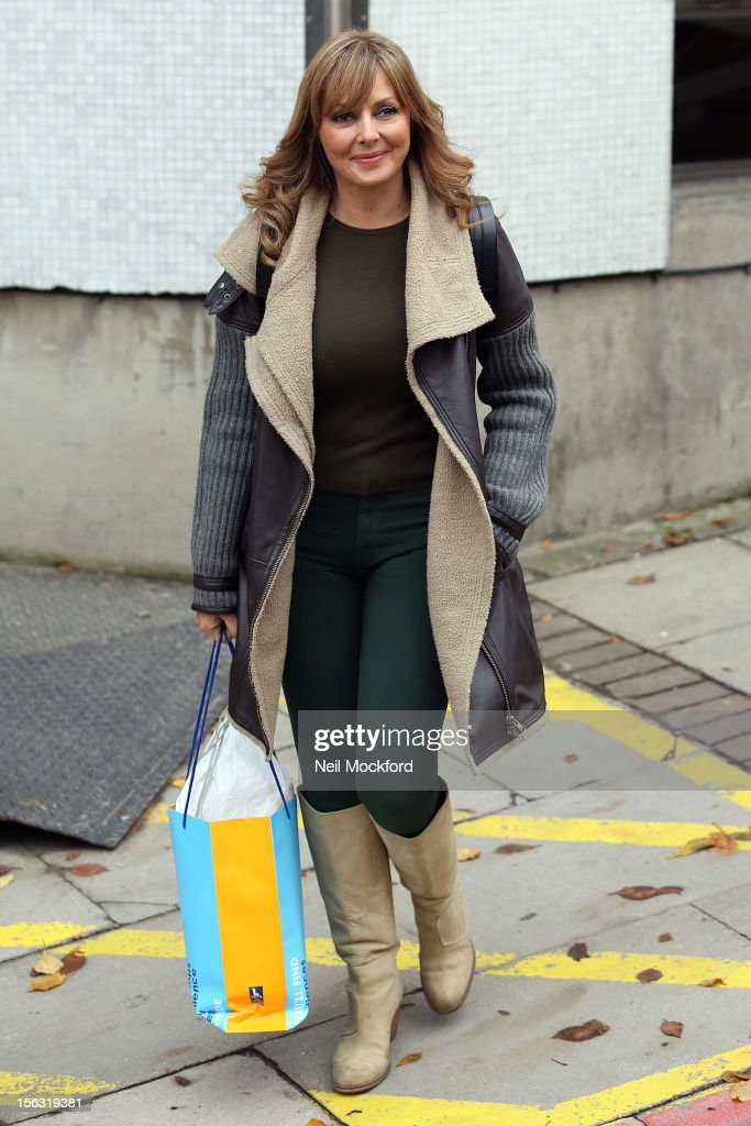 Carol Voderman seen at The ITV Studios after appearing on Loose Women on November 13, 2012 in London, England.