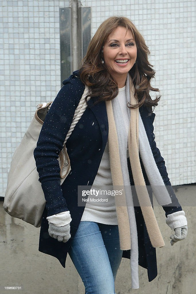 Carol Voderman seen at the ITV Studios on January 18, 2013 in London, England.