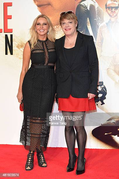 Carol Vorderman and Eddie Izzard attend an exclusive screening of 'Mission Impossible Rogue Nation' at BFI IMAX on July 25 2015 in London England