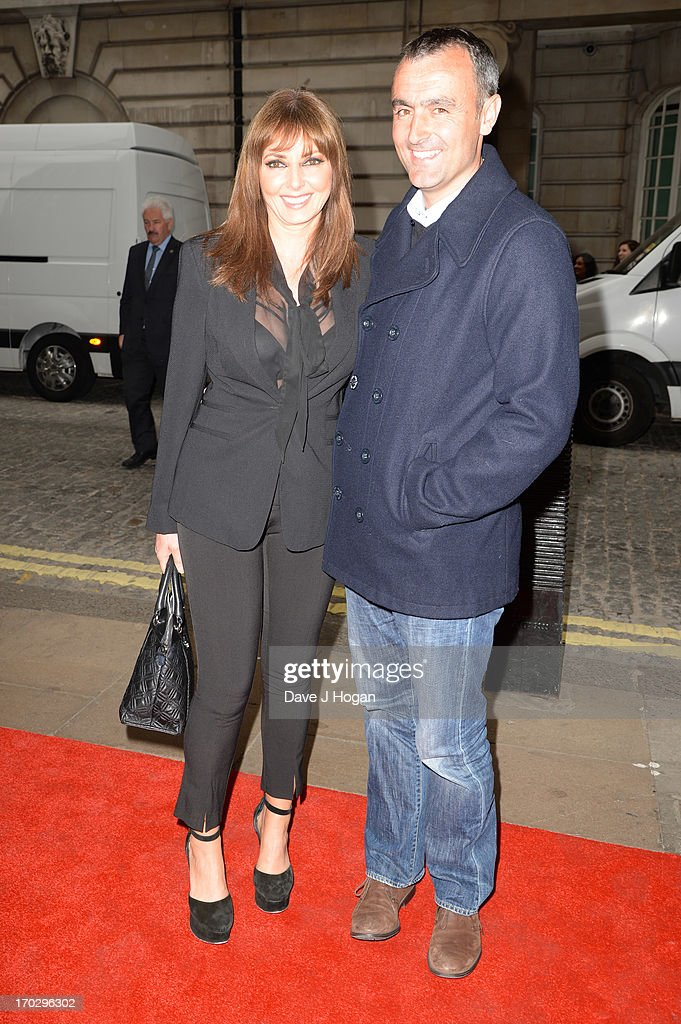 Carol Vorderman and Graham Duff attend a gala screening of 'Summer In February' at The Curzon Mayfair on June 10, 2013 in London, England.