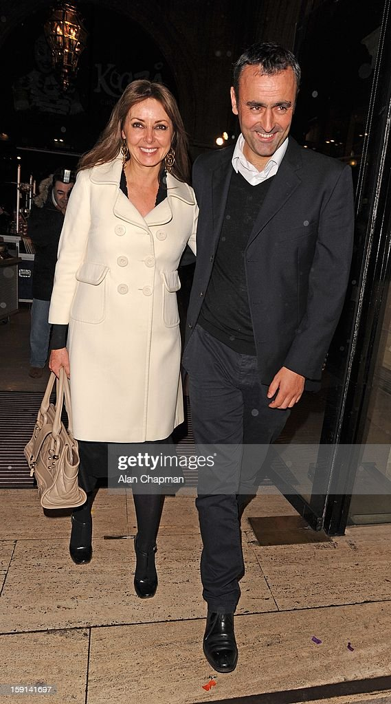 <a gi-track='captionPersonalityLinkClicked' href=/galleries/search?phrase=Carol+Vorderman&family=editorial&specificpeople=209224 ng-click='$event.stopPropagation()'>Carol Vorderman</a> and Graham Duff sighting at The Royal Albert Hall on January 8, 2013 in London, England.