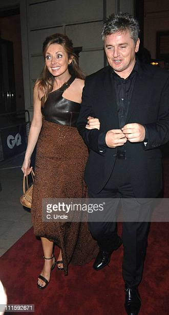 Carol Vorderman and guest during GQ Men Of The Year Awards Departures at Royal Opera House in London Great Britain