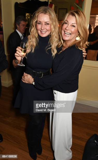 Carol Vorderman and Jilly Johnson attend a party celebrating 40 years of Langan's Brasserie on April 3 2017 in London England