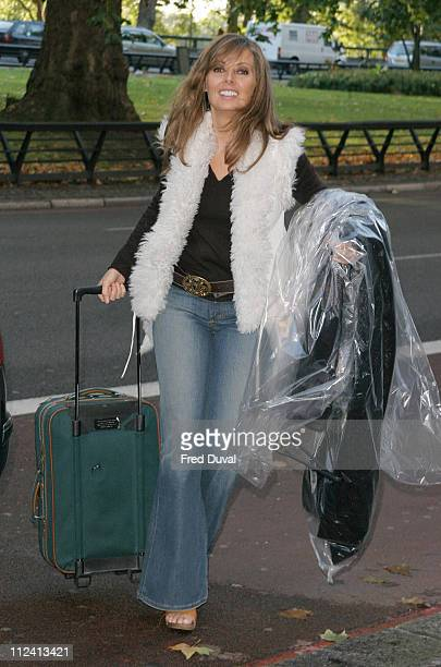 Carol Vorderman arrives early during Breast Cancer Care 2004 Fashion Party at The Grosvenor House Hotel in London United Kingdom