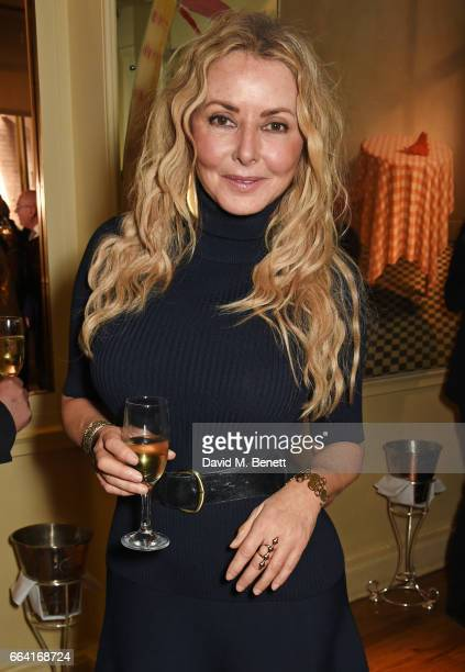 Carol Vorderman attends a party celebrating 40 years of Langan's Brasserie on April 3 2017 in London England
