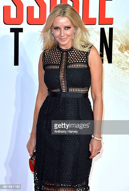 Carol Vorderman attends an exclusive screening of 'Mission Impossible Rogue Nation' at BFI IMAX on July 25 2015 in London England