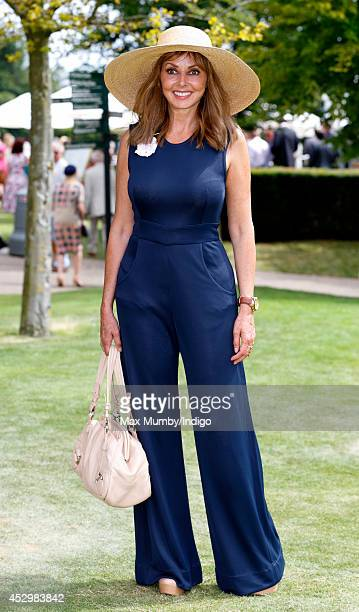 Carol Vorderman attends Ladies Day of Glorious Goodwood at Goodwood Racecourse on July 31 2014 in Chichester England