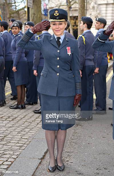 Carol Vorderman attends the 75th anniversary of the RAF Air Cadets at St Clement Danes Church on February 7 2016 in London England