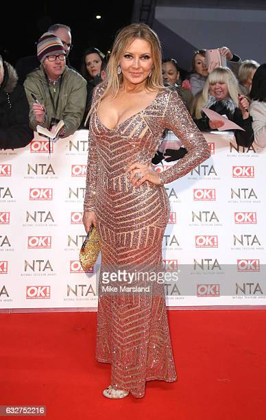 Carol Vorderman attends the National Television Awards at The O2 Arena on January 25 2017 in London England