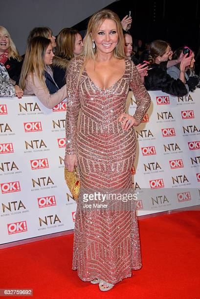Carol Vorderman attends the National Television Awards on January 25 2017 in London United Kingdom