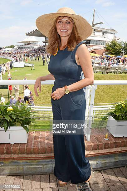 Carol Vorderman attends the Pioneering Women's Luncheon at Glorious Goodwood Ladies Day at Goodwood on July 31 2014 in Chichester England