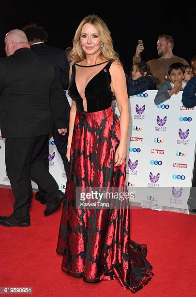 Carol Vorderman attends the Pride Of Britain Awards at The Grosvenor House Hotel on October 31 2016 in London England