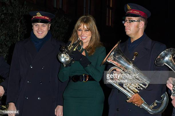 Carol Vorderman Carol Vorderman switches on the Christmas Lights on Mount Street on November 22 2012 in London England