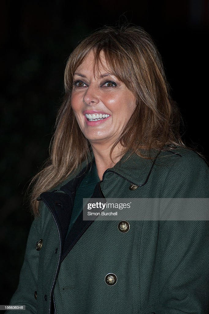 Carol Vorderman Carol Vorderman switches on the Christmas Lights on Mount Street on November 22, 2012 in London, England.
