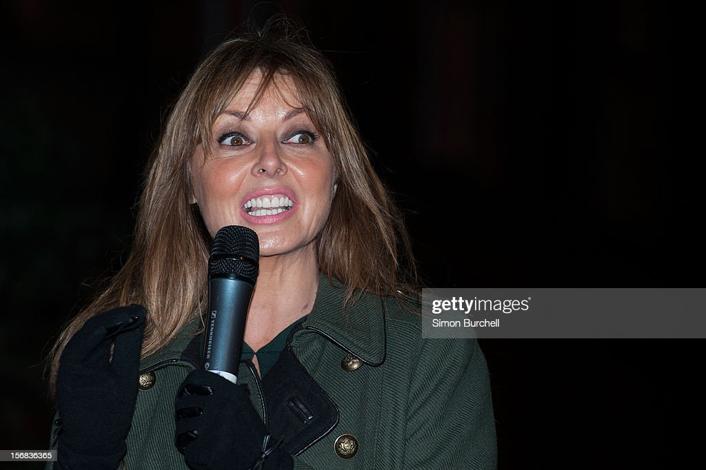<a gi-track='captionPersonalityLinkClicked' href=/galleries/search?phrase=Carol+Vorderman&family=editorial&specificpeople=209224 ng-click='$event.stopPropagation()'>Carol Vorderman</a> <a gi-track='captionPersonalityLinkClicked' href=/galleries/search?phrase=Carol+Vorderman&family=editorial&specificpeople=209224 ng-click='$event.stopPropagation()'>Carol Vorderman</a> switches on the Christmas Lights on Mount Street on November 22, 2012 in London, England.
