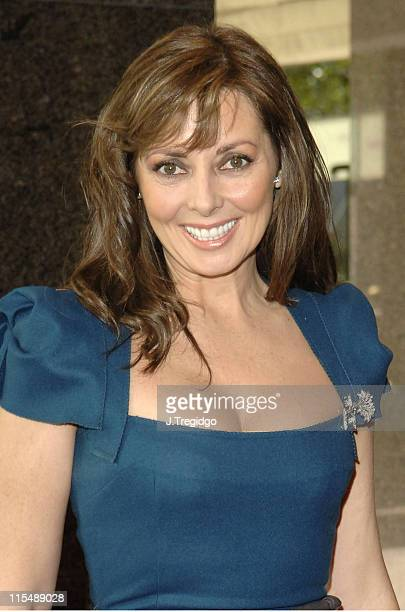 Carol Vorderman during Des Lynam Launches His Book 'I Should Have Been at Work' at Carlton Tower Hotel in London Great Britain