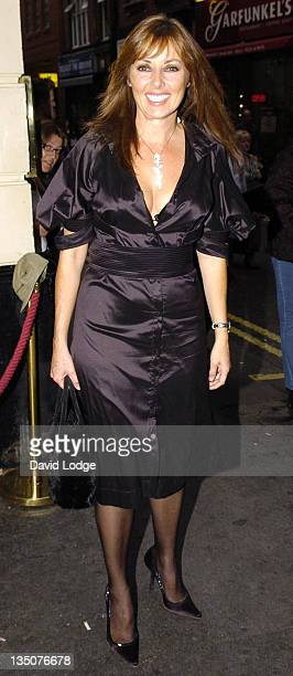 Carol Vorderman during 'Guys and Dolls' Cast Change Press Night at Piccadilly Theatre in London Great Britain
