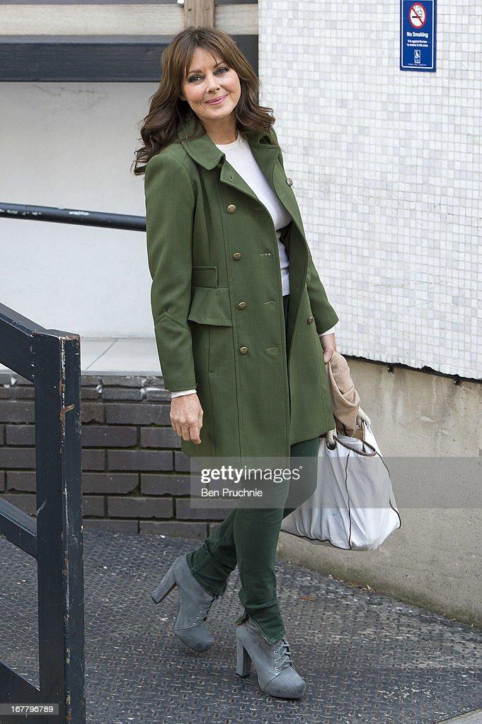 Carol Vorderman is sighted departing ITV Studios on April 30, 2013 in London, England.