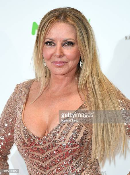 Carol Vorderman poses in the winners room at the National Television Awards at The O2 Arena on January 25 2017 in London England