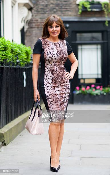 Carol Vorderman presents the AW13 fashion collection for Ismecom at 68 Dean Street on May 22 2013 in London England